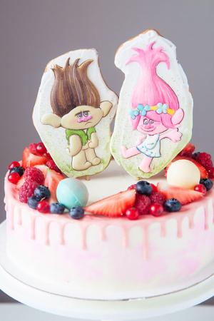 детский торт на заказ тролли розочка уфа радости-сладости